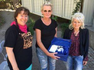 Hedersmedlem Eva Dahlgren med Eva Högberg och Signe Rudberg Selin 2017