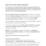 Radio Lilith Program 2: Pressrelease