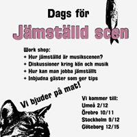Jämställd scen seminarium -affisch Brygghuset 2012